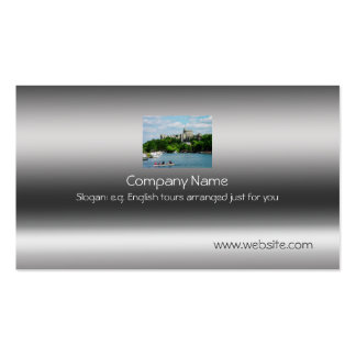 Windsor Castle from River Thames on metallic-look Pack Of Standard Business Cards