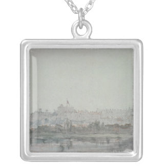 Windsor Castle from the River, 19th century Silver Plated Necklace