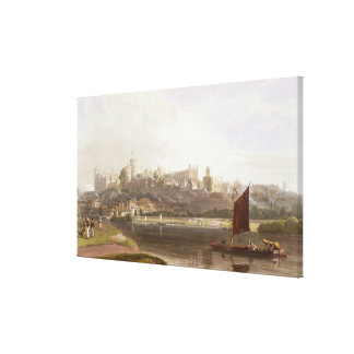 Windsor Castle from the River Meadow on the Thames Canvas Print