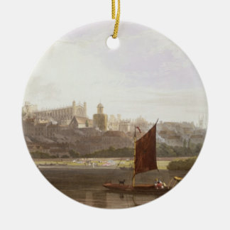 Windsor Castle from the River Meadow on the Thames Christmas Ornament