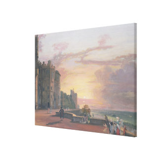 Windsor Castle: North Terrace looking west at suns Canvas Print