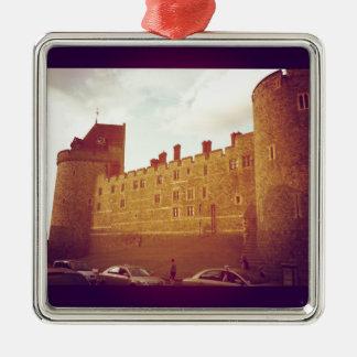 Windsor Castle Silver-Colored Square Decoration