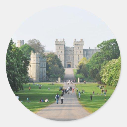 Windsor castle round sticker