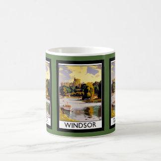 Windsor Castle Vintage Travel  Poster Basic White Mug