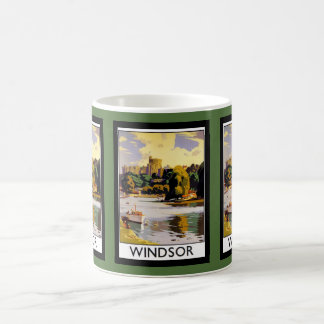 Windsor Castle Vintage Travel  Poster Coffee Mug