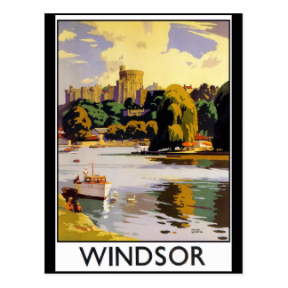 Windsor Castle Vintage Travel  Poster Postcard