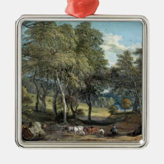 Windsor Forest with Oxen Drawing Timber, 1798 Christmas Ornament