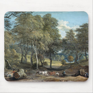 Windsor Forest with Oxen Drawing Timber, 1798 Mouse Mat