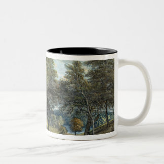 Windsor Forest with Oxen Drawing Timber, 1798 Two-Tone Coffee Mug