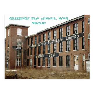 Windsor, Nova Scotia Textiles Mill Postcard