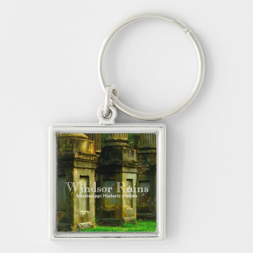 Windsor Ruins - Mississippi Historic Places Key Chains