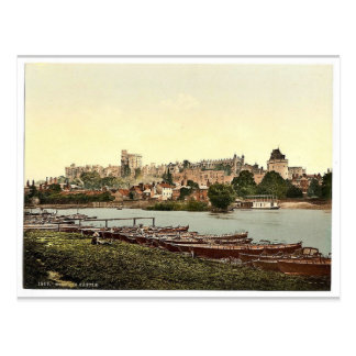 Windsor, view of the castle from the river, London Postcard