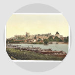 Windsor, view of the castle from the river, London Round Sticker