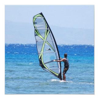 Windsurf 13 Cm X 13 Cm Square Invitation Card