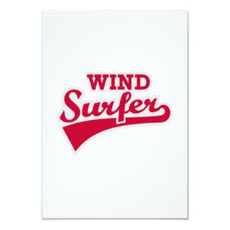 Windsurfer 9 Cm X 13 Cm Invitation Card