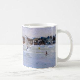 Windsurfer and Bathers Coffee Mug