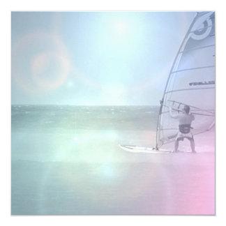 Windsurfer Design 13 Cm X 13 Cm Square Invitation Card