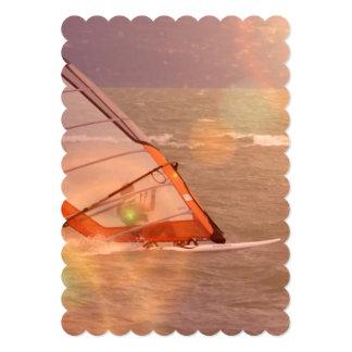Windsurfer 13 Cm X 18 Cm Invitation Card