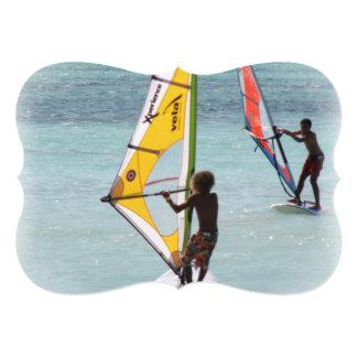 Windsurfer 5x7 Paper Invitation Card