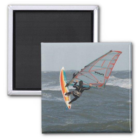 Windsurfer - North Jytland, Denmark Square Magnet