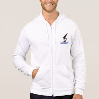 Windsurfer on board black, blue windsurfing custom hoodie