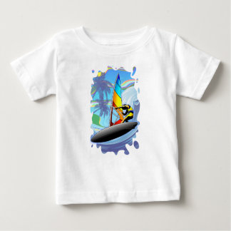 WindSurfer on Ocean Waves Baby T-Shirt