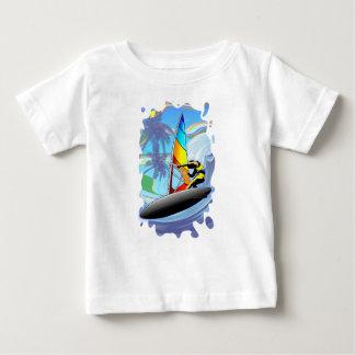 WindSurfer on Ocean Waves Baby T-Shirt