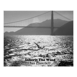 Windsurfer on San Francisco Bay Posters