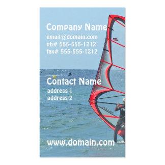 Windsurfer Trio Business Cards