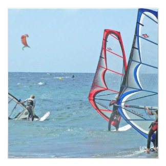 Windsurfer Trio Invitations