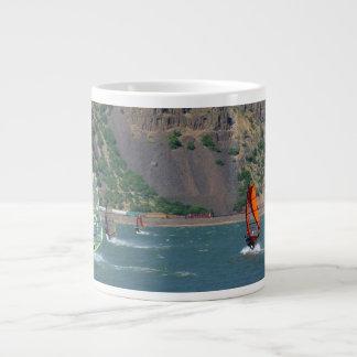 Windsurfers at Hood River mug Jumbo Mug