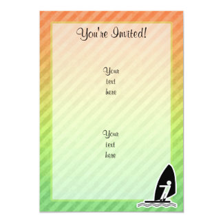 Windsurfing 13 Cm X 18 Cm Invitation Card