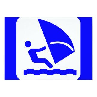 windsurfing-303772 windsurfing surfing wind water 13 cm x 18 cm invitation card