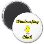 Windsurfing Chick Refrigerator Magnet