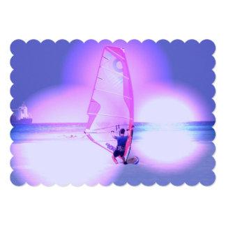 Windsurfing Color Personalized Invite