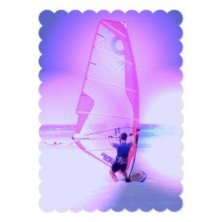 Windsurfing Color 5x7 Paper Invitation Card