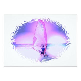"""Windsurfing Color Invitation 5"""" X 7"""" Invitation Card"""