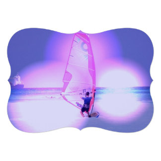 Windsurfing Color Invitations