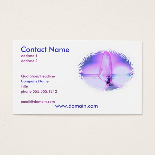 Windsurfing Colour Business Card
