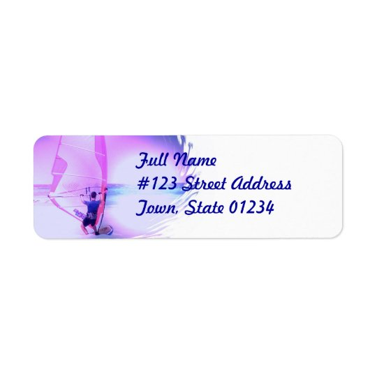 Windsurfing Colour Return Address Label