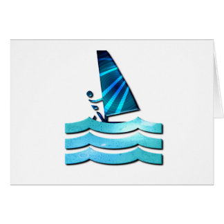Windsurfing Design Greeting Card