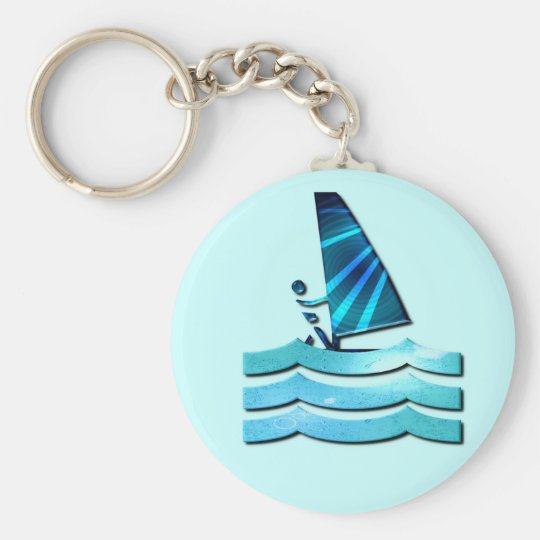 Windsurfing Design Keychain