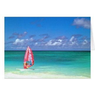 Windsurfing Hawaii Greeting Card