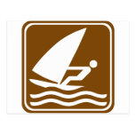 Windsurfing Highway Sign Post Cards