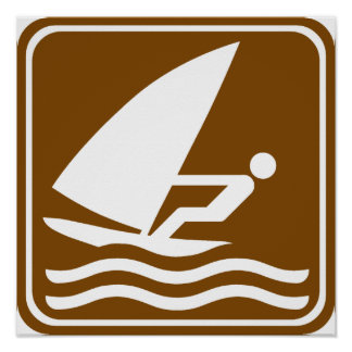 Windsurfing Highway Sign Posters
