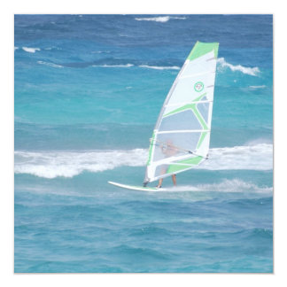 Windsurfing in the Tropics 13 Cm X 13 Cm Square Invitation Card