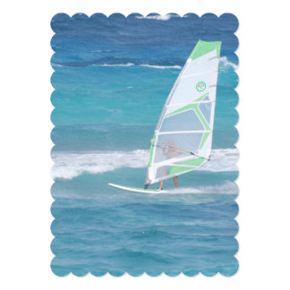 Windsurfing in the Tropics 5x7 Paper Invitation Card