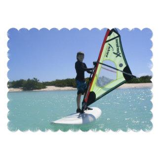 Windsurfing 13 Cm X 18 Cm Invitation Card