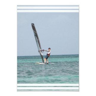 "Windsurfing Invitation 5"" X 7"" Invitation Card"