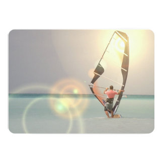"Windsurfing 5"" X 7"" Invitation Card"